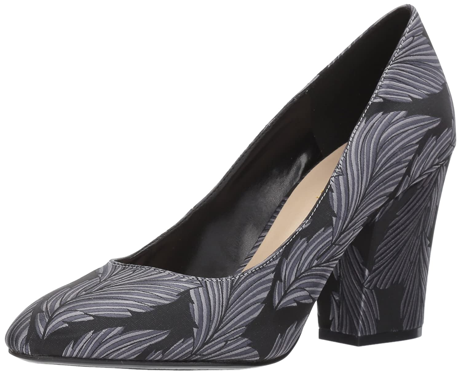 Nine West 8 Women's Scheila Pump B06VV8F5JH 8 West B(M) US|Black/Silver Feather Print bd2a18