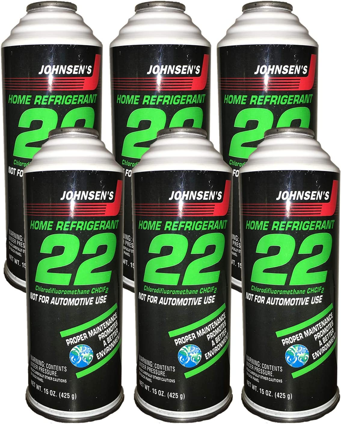 DiY Parts R22_ Refrigerant_ for Home AC Units use in 15 oz Puncture Style Containers (Qty of 6), Made in USA