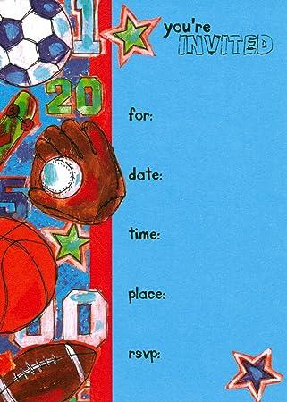 Amazon.com: Invitaciones de fiesta de cumpleaños para niños ...
