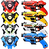 LUKAT Laser Tag Guns Set with Spray Function, Upgraded Version Ⅲ Laser Tag Sets with Gun and Vest, Outdoor Games for…
