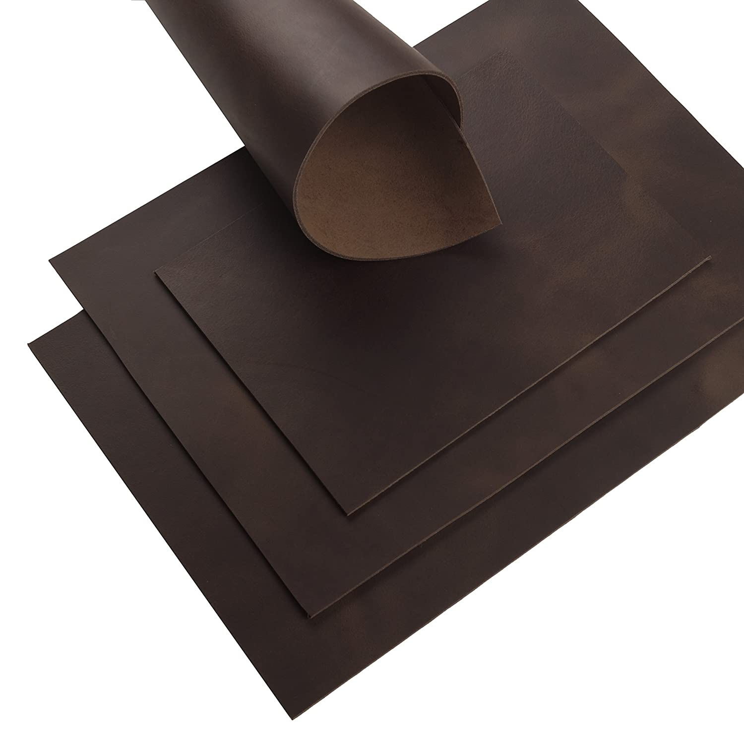 Rindsleder Cacao Pull-Up Finish Design 2,9 mm Dick A5 Braun Leather 29