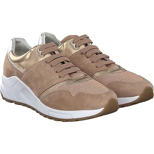 newest 6ad14 b6d80 Geox Damenschuhe D724DA Phyteam Sportlicher Damen Sneaker, Wedgesneaker,  Schnürhalbschuh mit Verstecktem Keilabsatz im Schuh