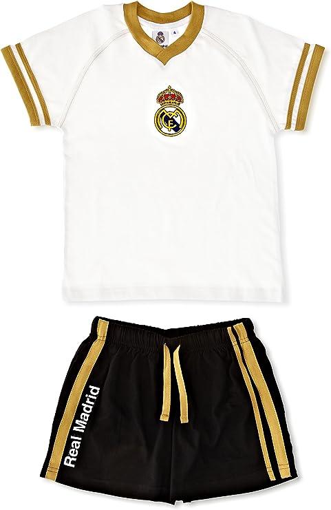 Licencias Pijama Niño Real Madrid Blanco/Negro 4 años (104 cm ...