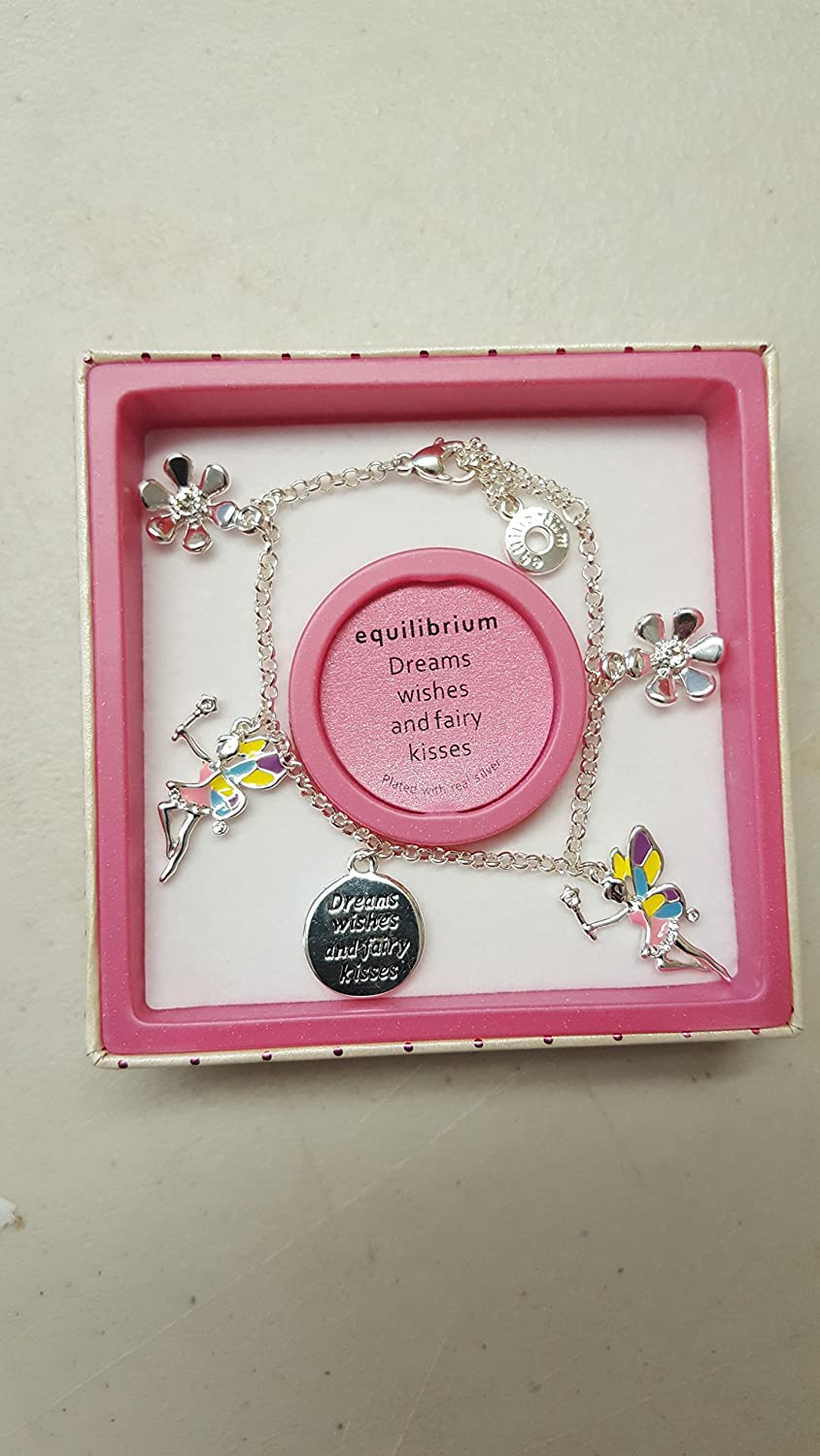 Dreams Wishes and Fairy Kisses Novelty Childrens Bracelet Girls Jewellery