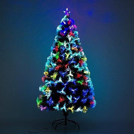 HomSapin de Noël Artificiel Arbre de Noël Lumineux en Fibre