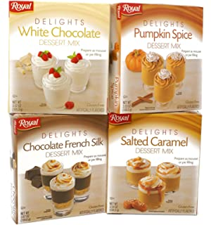 Variety Pack - Royal Dessert Mix Mousse/Pie Filling - White Chocolate (3.57 oz