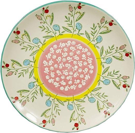 Platos Decorativos De Colores De Mesa De Cerámica Pintados A Mano ...