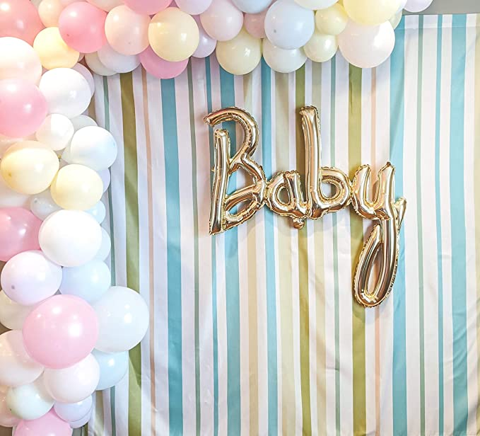 8x12 FT Motivational Vinyl Photography Backdrop,Brush Calligraphy on Blue Waves Positive Encouraging Advice Background for Baby Birthday Party Wedding Graduation Home Decoration