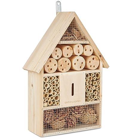 Andrew James - Caseta para abejas e insectos, ideal para abejas solitarias y para controlar