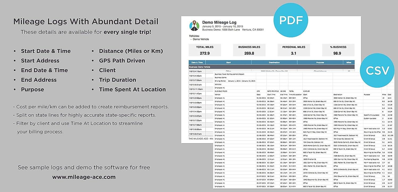 amazon com mileage ace pro trusted gps mileage tracker with
