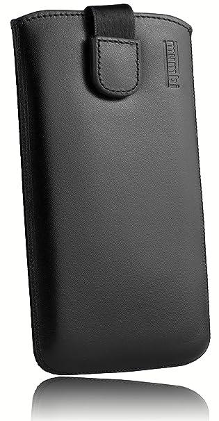 mumbi ECHT Ledertasche für Samsung Galaxy A3 (2017) Tasche Leder Etui (Lasche mit Rückzugfunktion Ausziehhilfe)