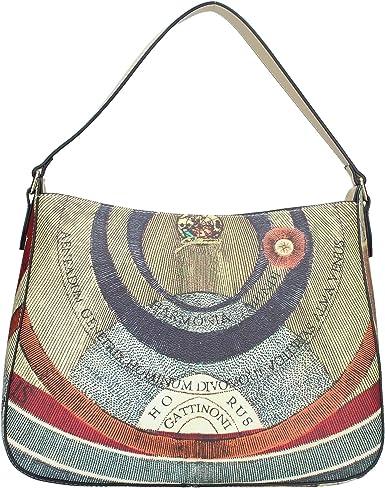 Gattinoni borsa a spalla linea Planetario,chiusura con zip.29x18x46