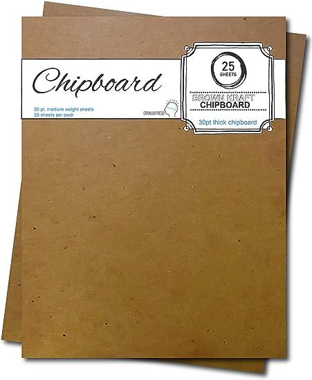 30pt 5 x 7 Brown Kraft Cardboard Chipboard 25 Pieces