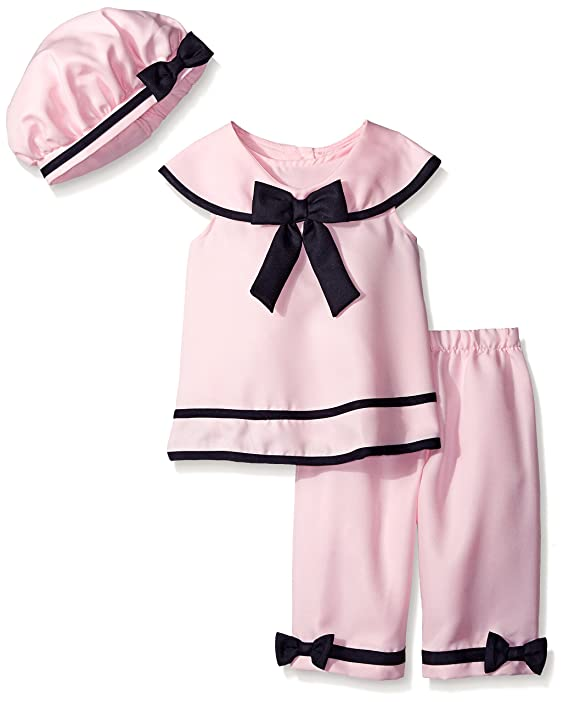 Vintage Style Children's Clothing: Girls, Boys, Baby, Toddler Rare Editions Big Girls Pink Nautical Capri Set $31.88 AT vintagedancer.com