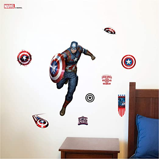 Captain America Shield Avengers Living Room Bedroom Home Decal Vinyl Wall Decor Home Decor Decor Decals Stickers Vinyl Art