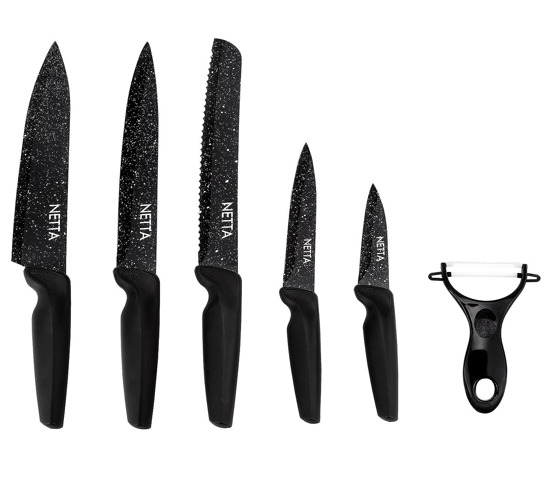 Compra Netta - Juego de cuchillos recubiertos de piedra con ...