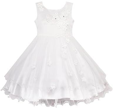 Fille Blanc Reconstitution Robe Mariage D'honneur 3 Sunny 10 Ans Fashion Demoiselle Fleur Historique 0wmnvN8