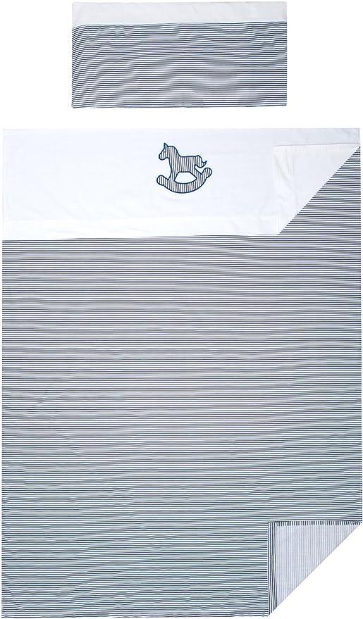 Vizaro - Tríptico Juego de Sábanas (3 Piezas) Cuna 60x120cm - 100% Algodón - Hecho UE, OekoTex - Caballito