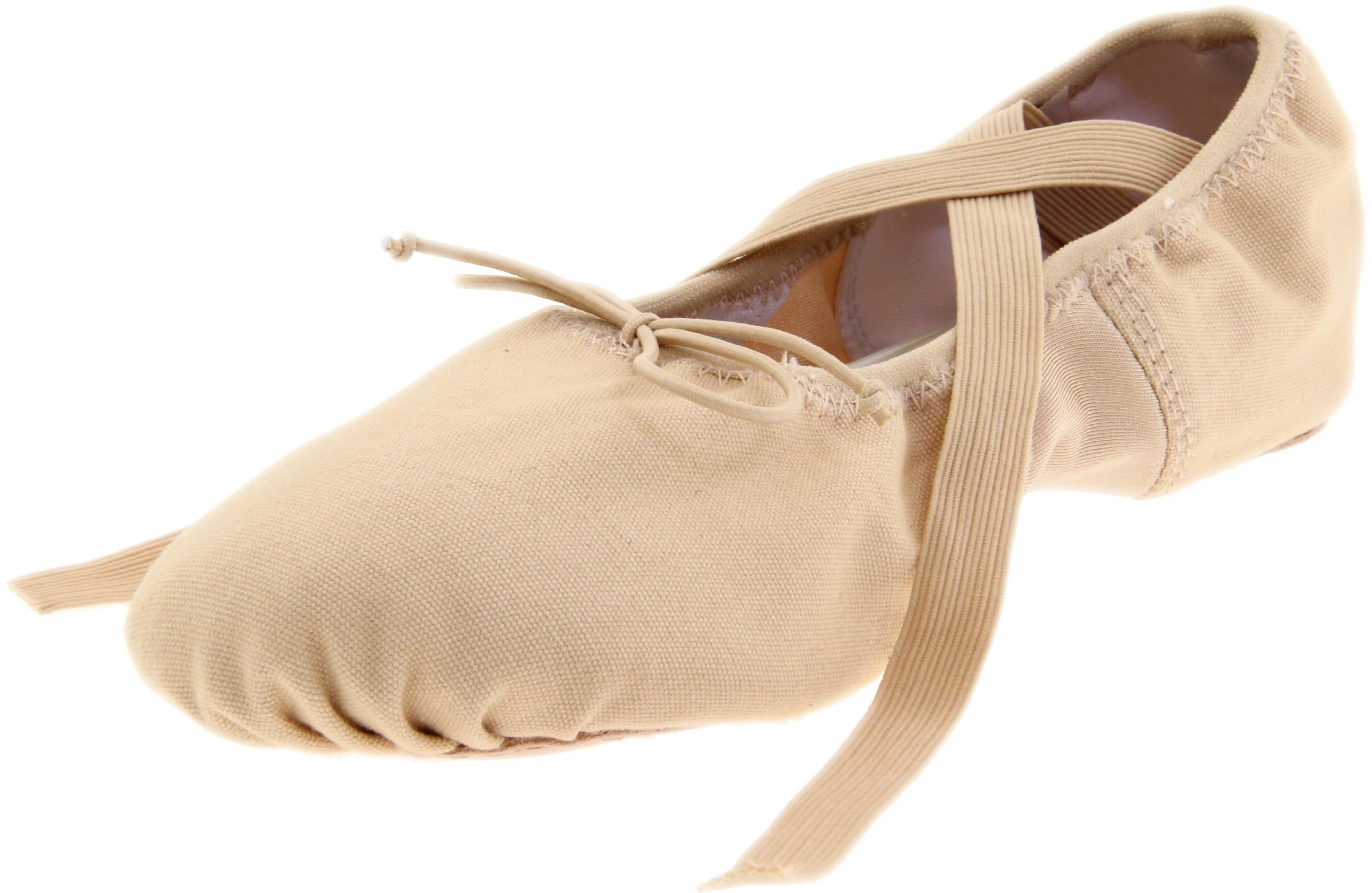Dance Class Women's BC102 Split Sole Canvas Ballet Slipper,Pink,12 M US