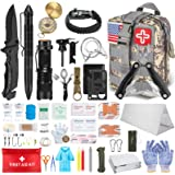 TAIMASI 100PCS Emergency Survival Kit and First Aid Kit, Professional Survival Gear Tool with Tactical Molle Pouch and…