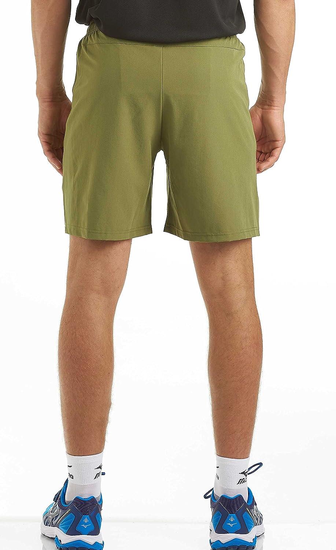 Time To Run Pantaloncini da Running//Ginnastica//Allenamento Larghi da Uomo con Tasca Posteriore E Tasche Laterali