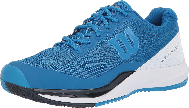 Wilson RUSH PRO 3.0 Tennis Shoes, Imperial Blue White Brilliant Blue, 11.5