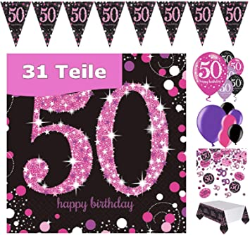 Party Dekorationen 24 Konfetti Birthday Luftballon Geburtstags Feier Tischdecke