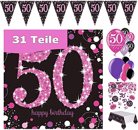 "18/"" Feuille Ballon Happy Birthday Party Neuf En Pack-Rose /& Noir girly"