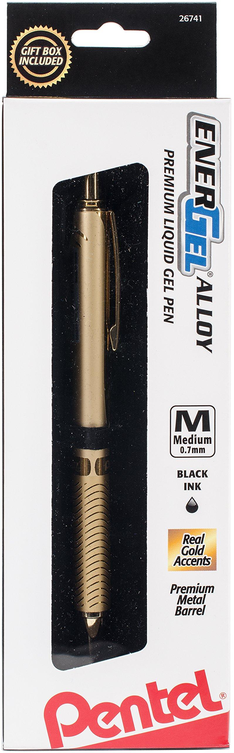 PENTEL Gold Barrl-Energel Alloy Pen 1P Gel Ink Rollerball...