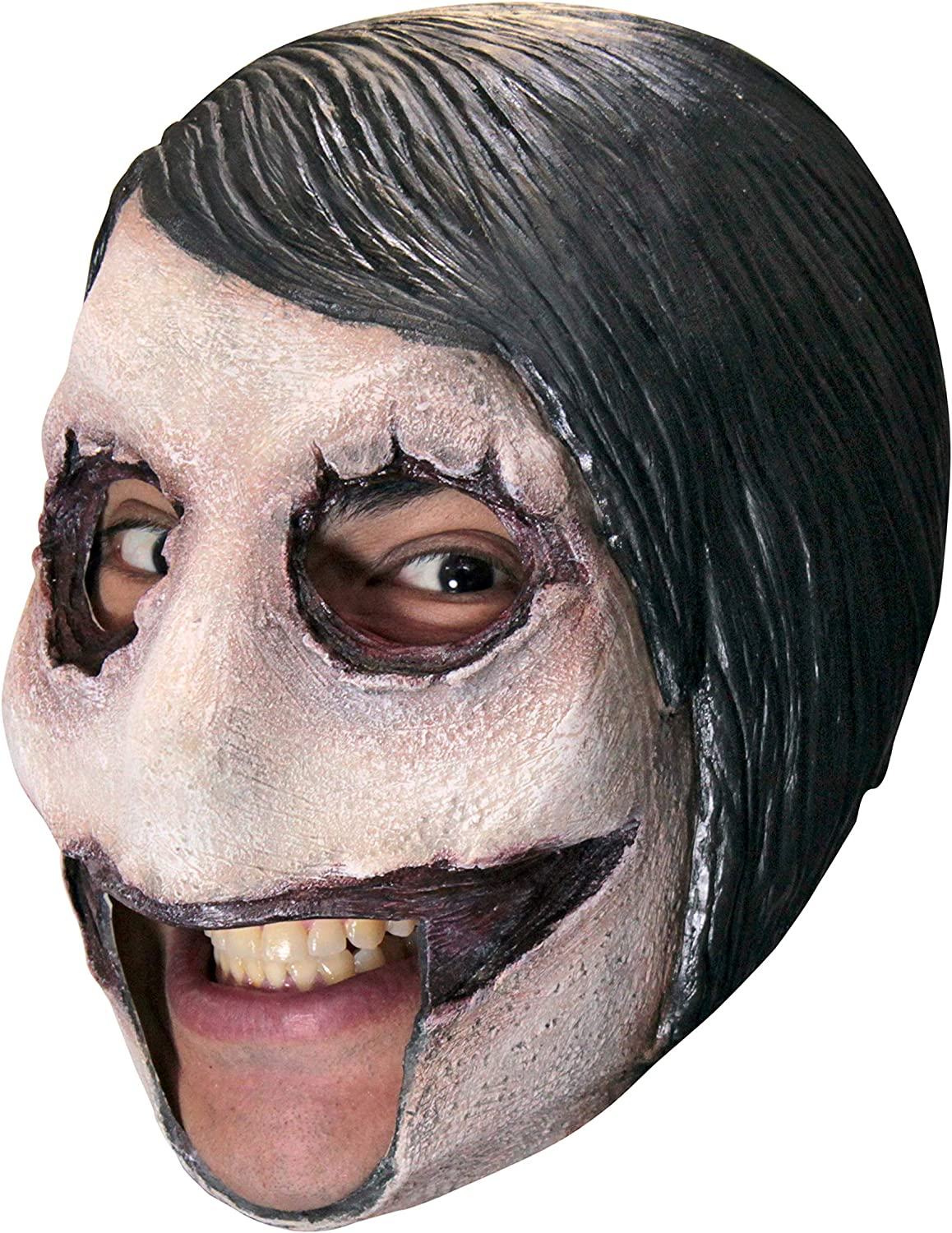 Evil Clown Frontal Face Mask Crazy Killer Halloween Adult Costume Accessory
