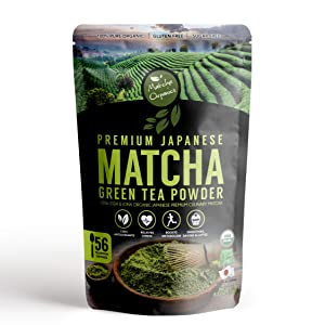 Matcha Organics - Premium Organic Japanese Matcha Green Tea Powder - Culinary Grade - 10gm / 3.52oz - Pure Energy & Focus - Perfect Superfood Supplement For Latte Smoothie Baking Keto And Weight Loss