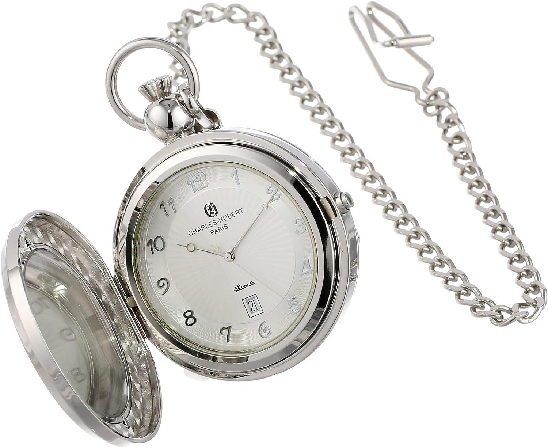 Charles Hubert 3851 Quartz Picture Frame Pocket Watch