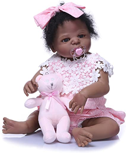 55CM real size Original NPK doll reborn toddler girl pink toy very soft silicone