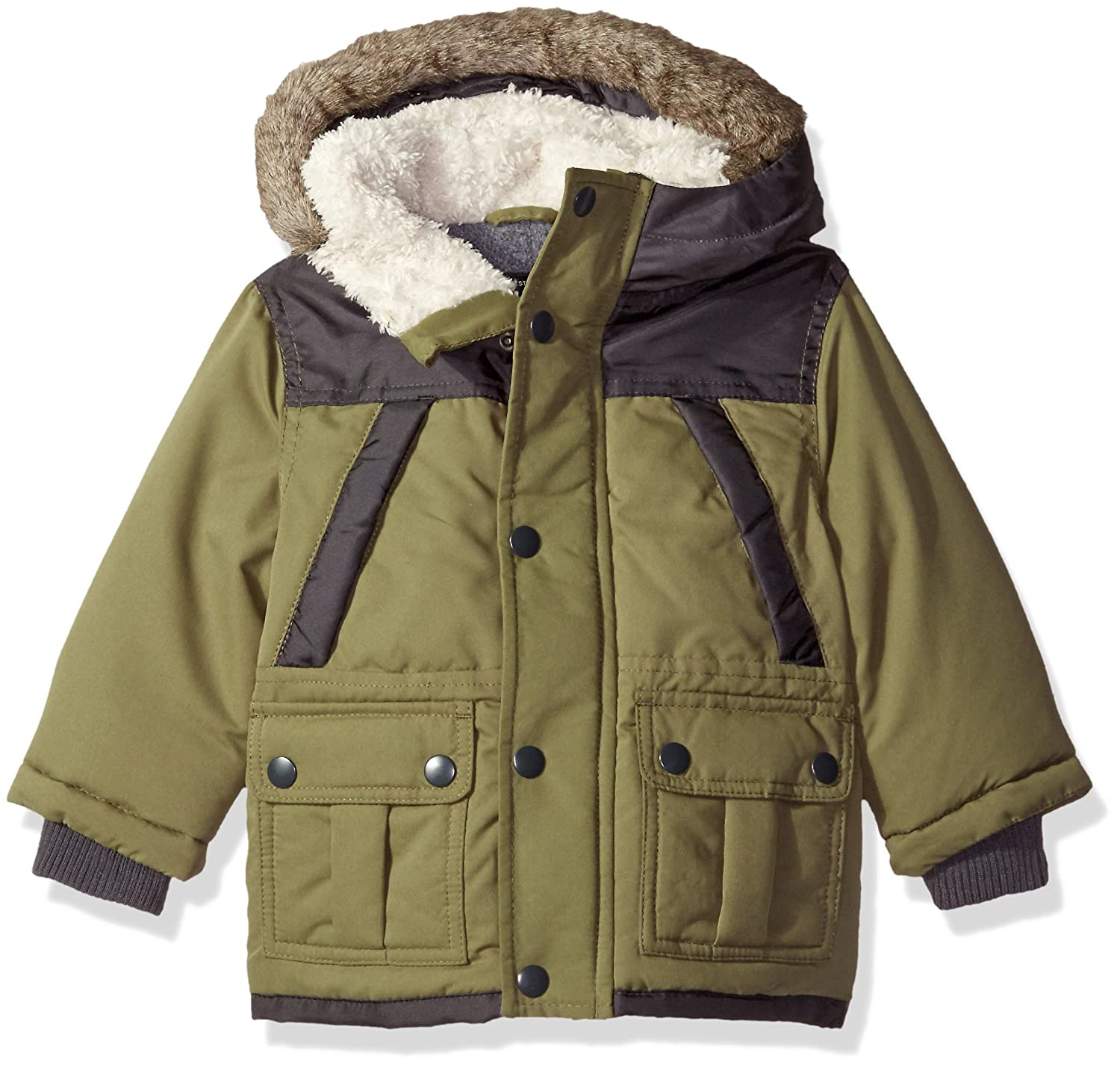 OshKosh Baby-Boys Baby Infant Heavyweight Fashion Parka Olive 12M B216624