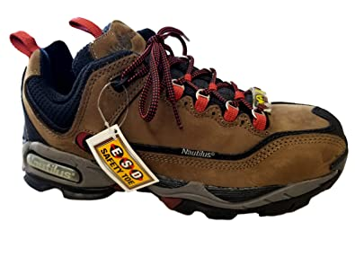 23f04a6da3a6 Image Unavailable. Image not available for. Color  Nautilus N1397 Womens  Brown Leather Steel Toe ESD Work Shoe ...