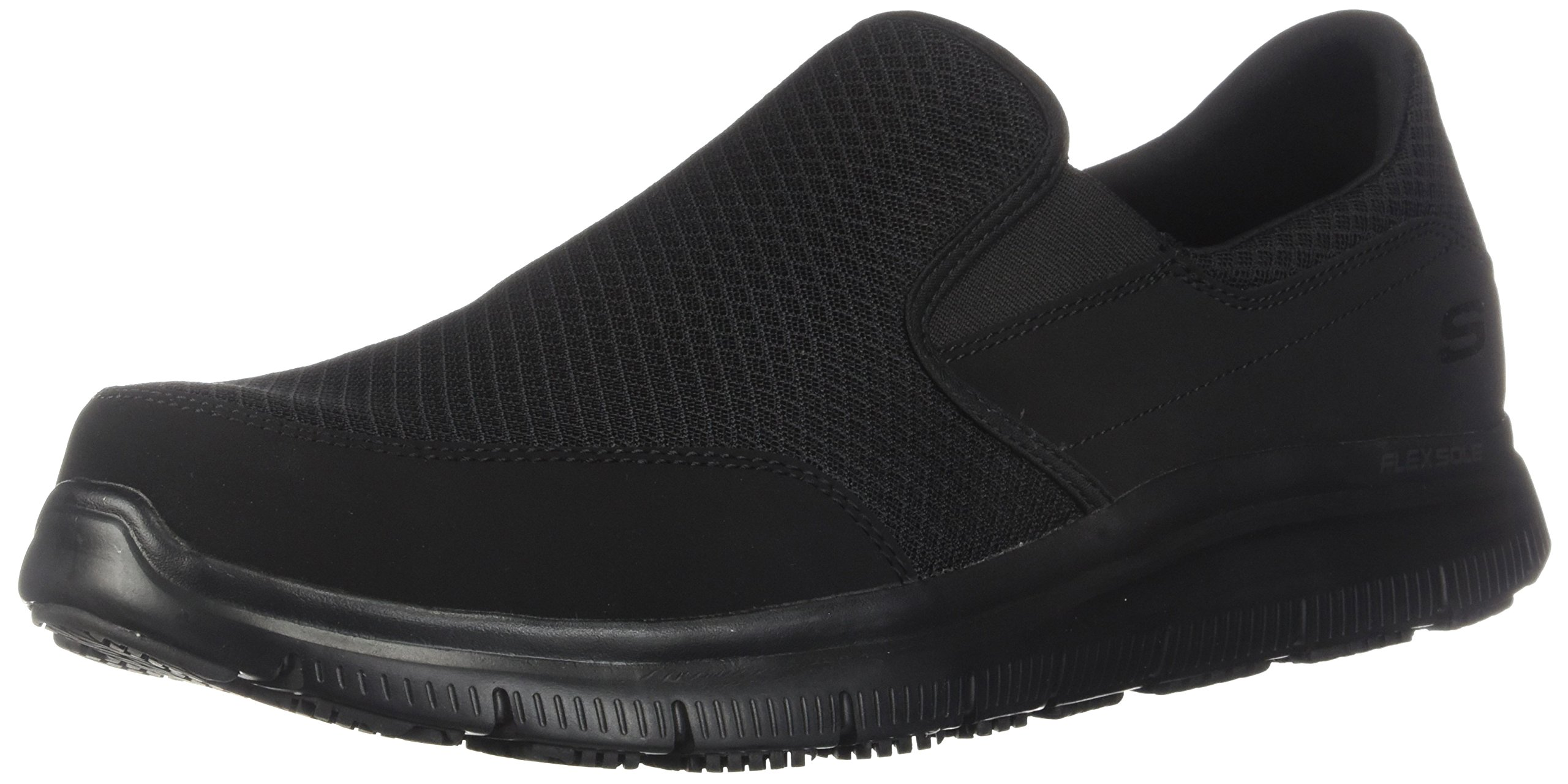 Skechers Men's Black Mesh Flex Advantage Slip Resistant Mcallen Slip On - 16 D(M) US