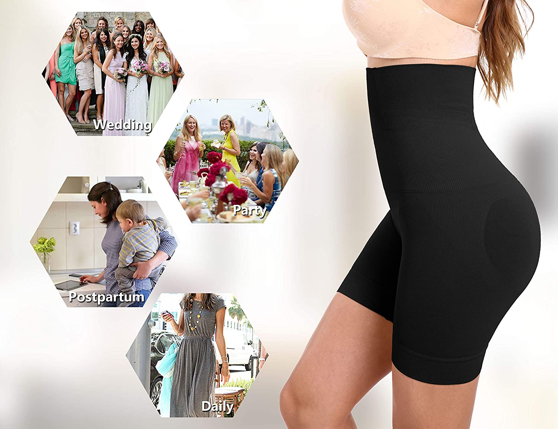 Seamless Tummy Control Body Shaper Butt Lifter High-Waist Shorts KIM S Open-Crotch Shapewear