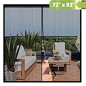 Magnetic Screen Door 72x 83 Inch,Heavy Duty Mesh Curtain Snap Shut Automatically for Patio Sliding Or Large Door