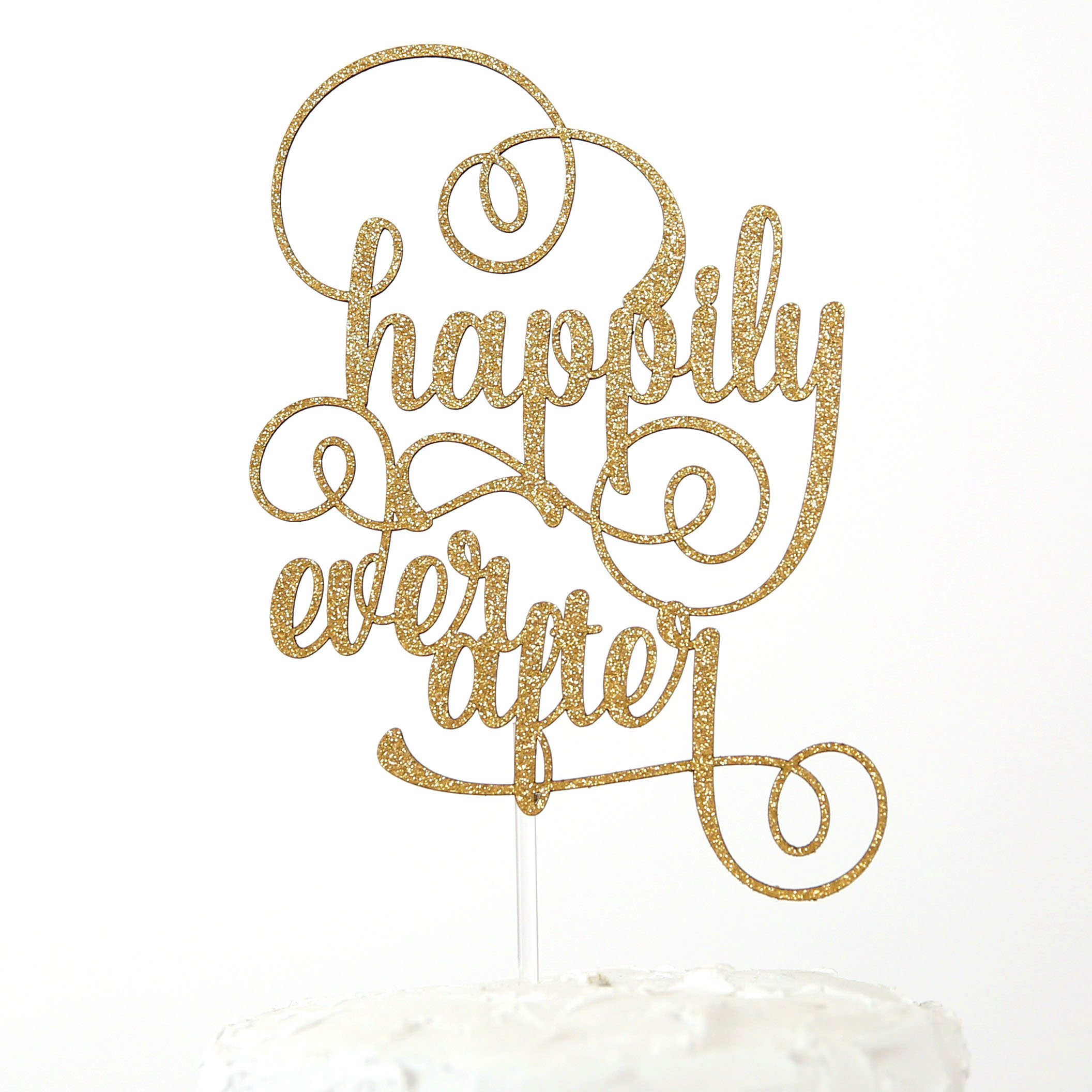 NANASUKO Wedding Cake Topper - happily ever after - Premium quality Made in USA by NANASUKO
