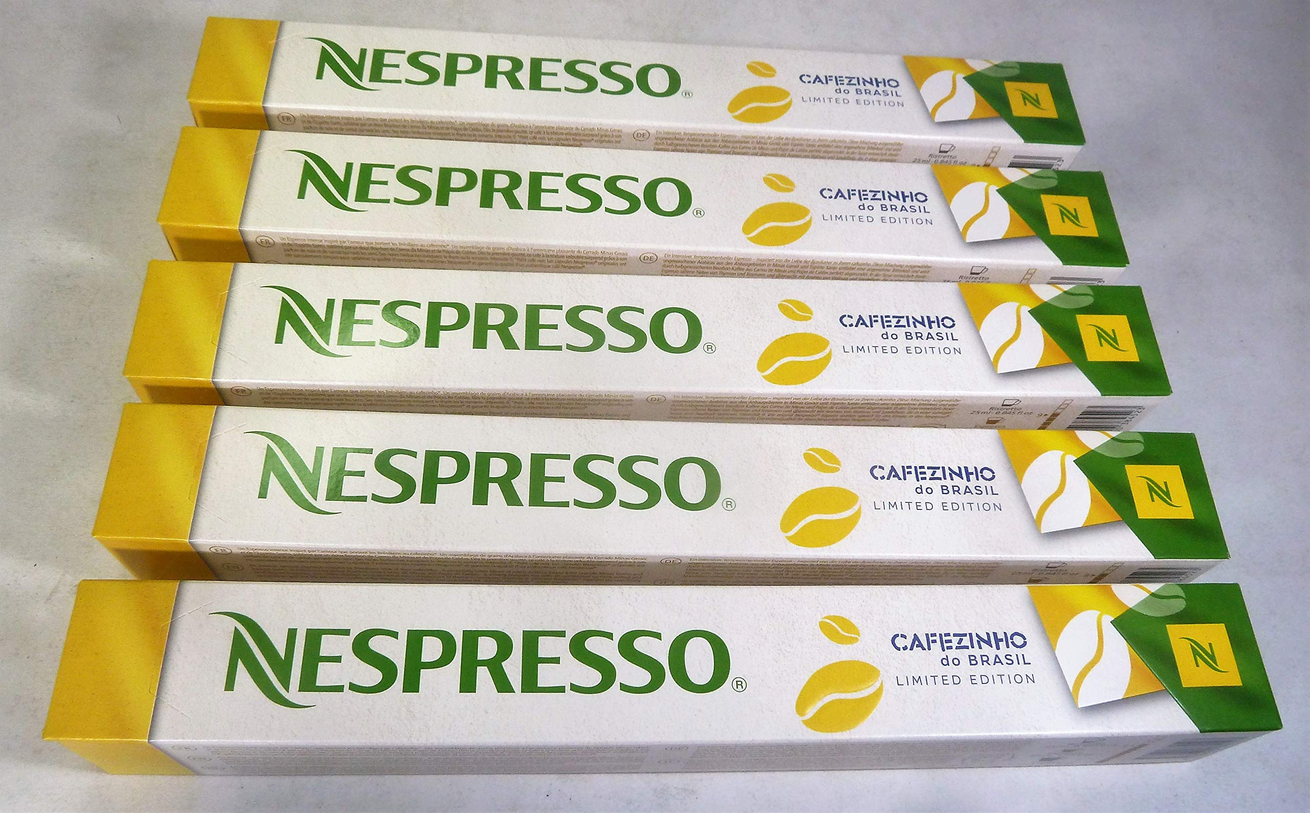 Nespresso Limited Edition CAFEZINHO DO Brasil 5 Sleeve (50 Capsules) NOT COMPATIBLE WITH VERTUOLINE by Nestle Nespresso
