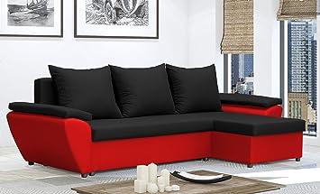 Lukafurniture Brown Cream Waterproof Fabric Corner Sofa Bed Jacob