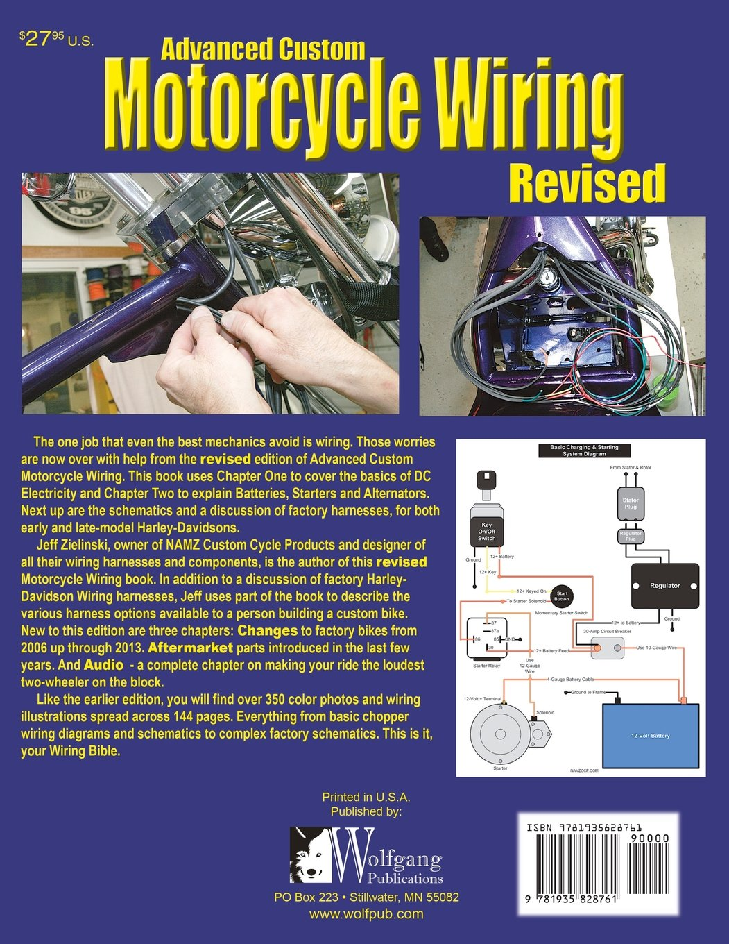 Advanced Custom Motorcycle Wiring Revised Edition Jeff Zielinski Schematics 9781935828761 Books