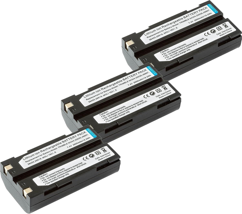 3 baterias para Trimble 92600 Survey GPS EM-BLI-TRB3