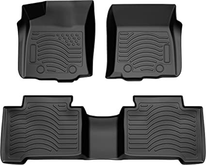 Automatic Transmission Type ONLY,1st and 2nd Row Included-All Weather Protection,Black COOLSHARK Toyota Tacoma Floor Mats Waterproof Floor Liners Custom Fit for 2016-2017 Toyota Tacoma Double Cab