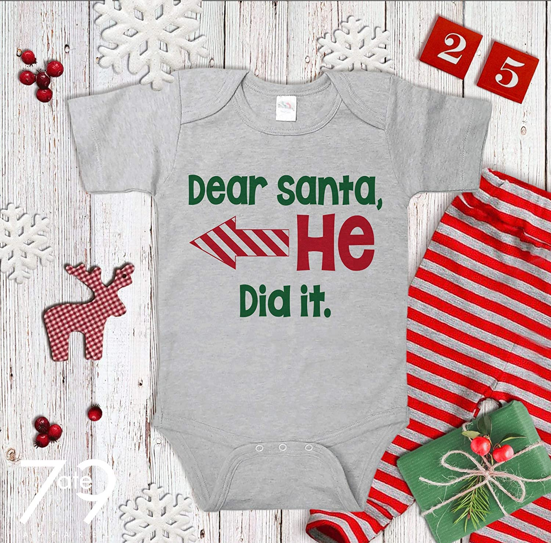 a2abb08d Amazon.com: 7 ate 9 Apparel Funny Kids Santa Christmas Onepiece: Clothing