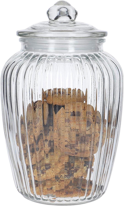 Kitchen Craft Home Made-Bote de Almacenamiento (Cristal, tamaño Grande, 2,2L), Transparente