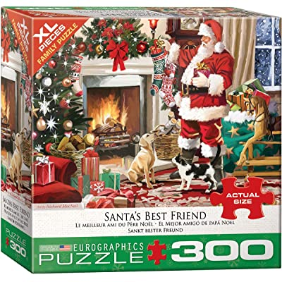 EuroGraphics 5399 Santa's Best Friend 300Piece Puzzle: Toys & Games