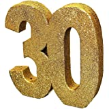 Gold Glitter Number Table Decoration '30'