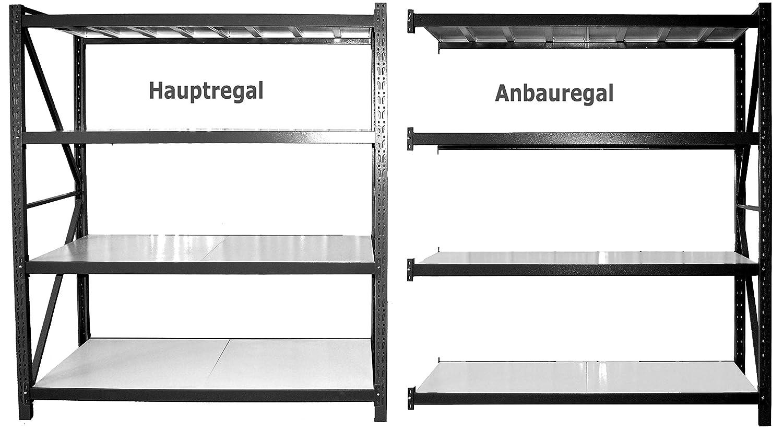 Vesalia Profi Steckregal f/ür Zuhause 172 cm H/öhe Anbauregal - Tiefe: 40 cm; Breite 120 cm