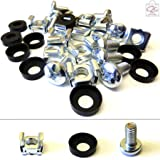 "20 Pack of M6 Cage Nuts Screws Washers 19"" Data Network Rack Cabinet Mount PDU"
